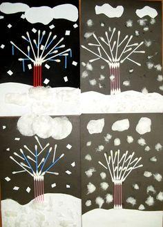 Winter Crafts For Kids, Winter Kids, Winter Art, Art For Kids, Kindergarten Crafts, Preschool Art, Homemade Paint, Iphone Wallpaper Tumblr Aesthetic, T Art