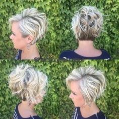 Stylish Messy Hairstyles for Short Hair - Women Short Haircut Ideas