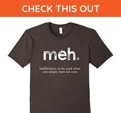 Mens Meh. Shirt - Funny Shirt - Funny Geek Sarcastic Expression 3XL Asphalt - Funny shirts (*Amazon Partner-Link)