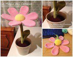 Amigurumi Flower Tutorial : Crochet is fun free pattern flower amigurumi ☀cq crochet