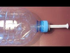 Простой самодельный ручной умывальник из бутылки и шприца:) - YouTube