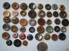 old workwear buttons