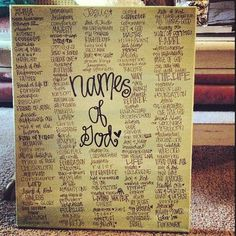 names of God canvas by gloriouslyruined