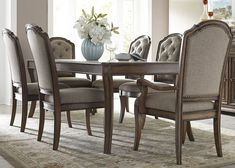 Amelia Dining 7 Piece Rectangular Table with Leaf and Upholstered Chairs Set by Liberty Furniture at Wayside Furniture Cheap Dining Room Sets, Antique Dining Room Sets, Contemporary Dining Room Sets, Modern Dining Room Tables, Dining Room Bar, Dining Room Wall Decor, Dining Room Design, Room Decor, Dining Rooms