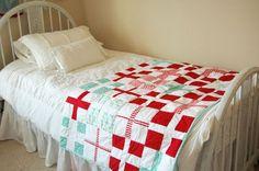red cross quilt /cruz roja