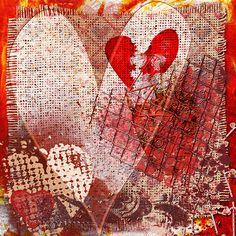 stubborn heart ~ art journal page