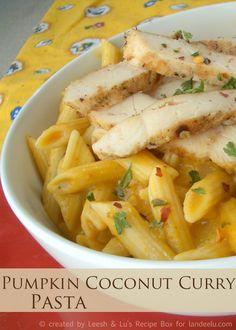 Creamy Pumpkin Coconut Curry Pasta | Landeelu.com