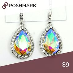 Sparkling Aurora Borealis Crystal Earrings Brand new item! Used to have a fashion store at the mall, ⌚but recently decided to go back to college to get my Nursing degree so now I just sell from home. 珞 Jewelry Earrings
