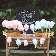 Cotton Candy Gender Prediction Game #babyshowergames