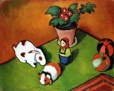 August Macke - Little Walter's Toys, 1912