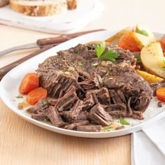 This is the BEST Instant Pot Pot Roast Recipe. Made with beef stock and the perfect amount of seasonings this pot roast is melt in your mouth tender. Directions for serving with carrots and potatoes as well. Venison Roast, Beef Pot Roast, Roast Beef Recipes, Roast Gravy, Sirloin Roast, Lamb Recipes, Roast Chicken, Meat Recipes, Free Recipes