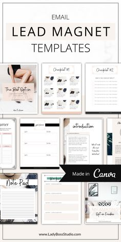 These Fresh Opt-in Freebie Templates are the freshest Canva Templates to help grow your email list on auto-pilot! Business Branding, Business Tips, Online Business, Identity Branding, Business Quotes, Visual Identity, Email Marketing Strategy, Content Marketing, Online Marketing