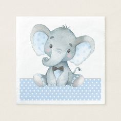 Elephant baby gifts girl elephant baby shower paper napkins baby gifts child new born gift idea special unique design elephant baby gift box Baby Girl Elephant, Elephant Baby Showers, Cute Elephant, Baby Boy, Baby Shower Party Supplies, Baby Shower Parties, Baby Shower Gifts, Baby Elefant, Baby Shower Napkins