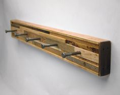 5 Hook Coat Rack Recycled Wood (Made to Order)