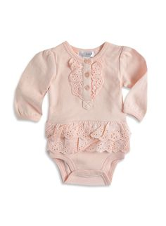 Pumpkin Patch - bodysuits - anglaise skirted bodysuit - W3BG15006 - pink icing - newborn to 12-18mths
