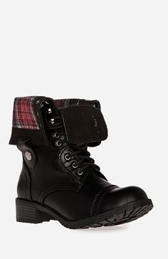 Plaid Fold Over Combat Boots .. I bought this boot at Gen X for a lot cheaper. Love them!