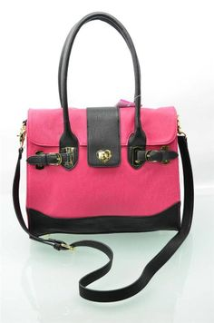 Betsey Johnson Handbag Turn Lock Berry Satchel Bag Tote Purse Shoulderbag New