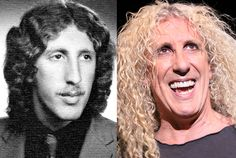 Dee Snider at Baldwin High School in 1973 and Dee Snider in 2011