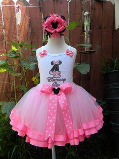 4th+Birthday+Girl+Outfit+set+Ribbon+trim+Tutu+Shirt+by+ccjboutique