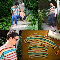 How to Draft and Sew a Dolman Sleeve Tee -- Sewing Tutorial