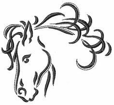 "Machine Embroidery Downloads: Designs & Digitizing Services from EmbroideryDesigns.com. Only 4""x4"" but a very nice image of a horse head!"
