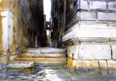 The Athenaeum - Base of a Palace (John Singer Sargent - )