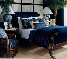 the furniture is to dark....but I love the blue/white scheme