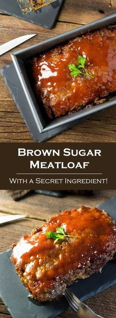 Brown Sugar Meatloaf with a Secret Ingredient via @foxvalleyfoodie