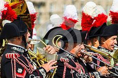 Moscow, Russia, Poklonnaya Hill, August 27, 2017 - The Carabinieri band Rome. Procession of military bands in the Victory Park within the framework of the International Music Festival of Military Orchestras Spassky Tower in Moscow.