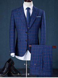 Checked Blazer Suit in Slim Fit