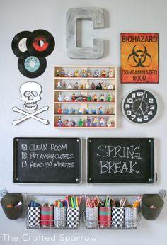 Art and Homework Station | 13 Boys Room Decor Ideas You Can DIY