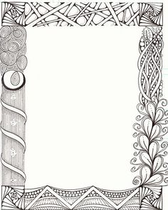 The NEW Ramblings of a Creative Mind: Zentangle workshop for Calligraphers Tangle Art, Tangle Doodle, Doodles Zentangles, Zentangle Drawings, Art Drawings, Zen Doodle, Doodle Art, Doodle Borders, Doodle Patterns
