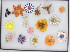 Vintage Flowers Brooches Jewelry