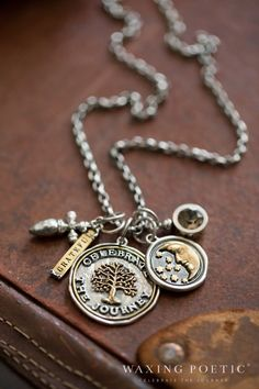 celebrate the journey combo Love Waxing Poetic Jewelry, and the inspirational sayings and charms...