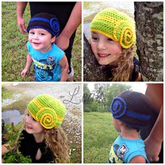 Nautilus Cloche Toddler-Preteen pattern by Creative Threads by Leah