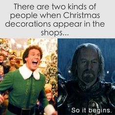 There are two kinds of people when Christmas decorations appear in the shops...