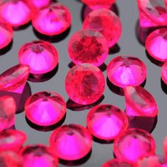 250PCs Floating Charms Fit Living Locket Fuchsia Round Birthstone 5mm