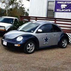 Dallas Cowboys VW Bug #CowboysNation #DC4L