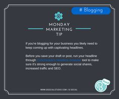 #Blogging #MondayMarketingTip