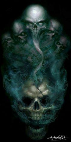 skull art black and white Skull Tattoo Design, Skull Tattoos, Body Art Tattoos, Dark Fantasy Art, Dark Art, Art Noir, Totenkopf Tattoos, Skull Pictures, Psychedelic Art