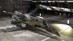 Morrigan-K class Space Fighter in Hangar by brandhuberz on DeviantArt