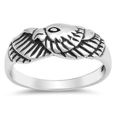 Oxidized Eagle American Bird Patriot Ring Sterling Silver Band Sizes -- Very kind of you to drop by to visit our picture. (This is our affiliate link) Jewelry Stores, Jewelry Sets, Horseshoe Ring, Eagle American, Star Ring, Thumb Rings, Square Rings, Jewelry Design, Designer Jewelry