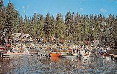Pinecrest California Boat Harbor Sailboats Marina Vintage Postcard (K4481)