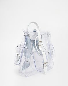 Image 2 of Grafea Clear Backpack with Leather Trims