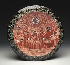Marcy Neiditz - Red Platter new 2019 Platter, Ceramic Art, Decorative Plates, Ceramics, Red, Home Decor, Hall Pottery, Pottery, Decoration Home