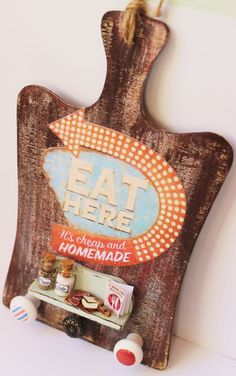 Vintage rustic handmade kitchen chopping by ManthaCreaMiniatures