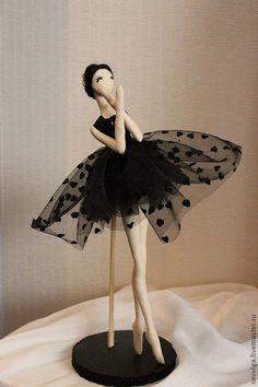 Купить Кукла балерина - кукла в подарок, кукла ручной работы, кукла текстильная, балерина, балет