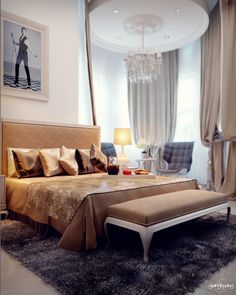 Classic Bedroom by Giang Hoang Design, via Behance