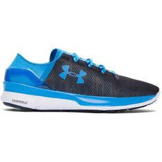 Under Armour Apollo 2 Reflective Running Shoes ($100) ❤ liked on Polyvore featuring men's fashion, men's shoes, men's athletic shoes, electric blue, mens running shoes, mens lightweight running shoes and under armour mens shoes