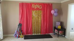 Perfect backdrop for a Sing themed birthday party/karaoke party